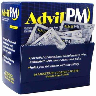 Advil Pm Pain/fever Reducer Tablets 200mg Caplets