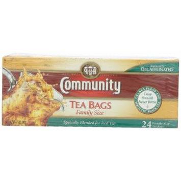 Community Coffee Tea Varieties, Decaf Family Tea Bags,5.25 oz., 24 Count (Pack of 6)