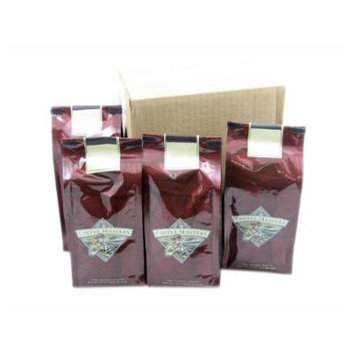 Christmas Cookie Decaffeinated Coffee, Ground (Case of Four 12 ounce Valve Bags)