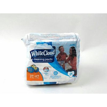 White Cloud Damaged Packaged Jumbo Boys 80Ct. 3T-4T 32-40lbs Training Pants