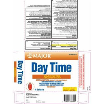[3 PACK] Non-Drowsy Cold and Flu Multisymptom Relief Rapid Release Gelcaps *Compare to the same active ingredients found in DayQuil® (16 per Box PACK of 3 Total 48 Gelcaps)