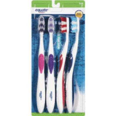 4 Pack of Equate Soft Toothbrush