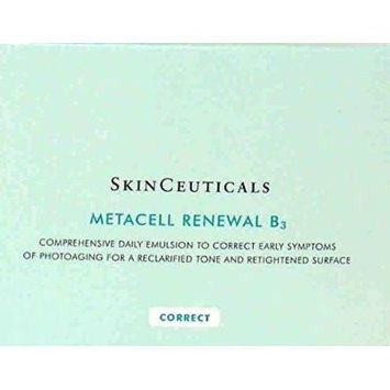 SkinCeuticals METACELL RENEWAL B3 - 1 Box Of 10 Squeeze Tubes = (1.25 oz./ 37 g/ml.) 1 1/4 Oz. A Comprehensive daily emulsion to improve the appearance of early photoaging