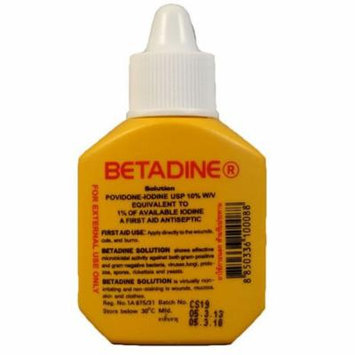 Betadine Povidone Iodine First Aid Solution Antiseptic for Cuts Wounds 15cc