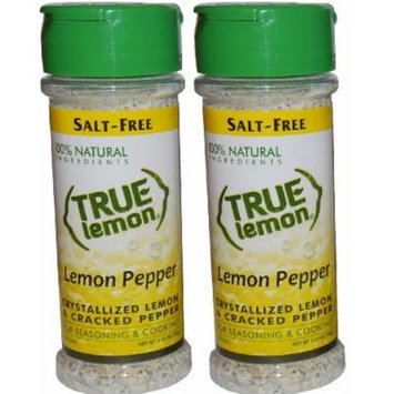 True Lemon Pepper Seasoning 2.65oz (2 pack) Natural Ingredients, No Salt, Gluten Free.