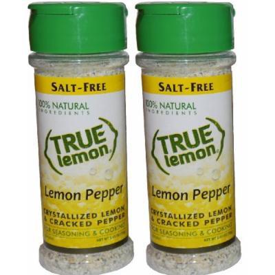 True Lemon Pepper Seasoning 2.65oz (2 pack) Natural Ingredients, No Salt, Gluten Free.