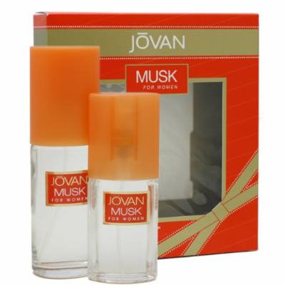 Jovan Musk By Jovan For Women Gift Set (Cologne Spray 2.0-Ounce / 59 Ml + Cologne Spray 0.8-Ounce / 23.6 Ml)