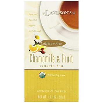 Davidsons Herbal Teabags, Chamomile and Fruit, 25 Count