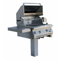 Solaire 30-Inch InfraVection Natural Gas In-Ground Post Grill with Rotisserie Kit, Stainless Steel