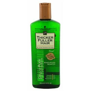 Thicker Fuller Hair Shampoo Moisturizing 12 oz. (3-Pack) with Free Nail File