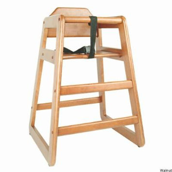 Children's Commercial Wooden High Chair: Mahogany