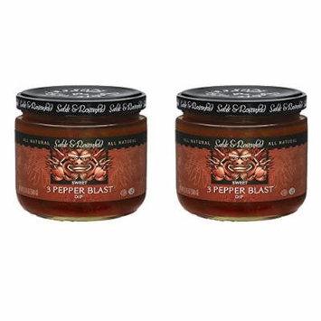 Sable & Rosenfeld Dips - Earth Kosher - 3 Pepper Blast Sweet Dip - 2 Pack (12 oz each)