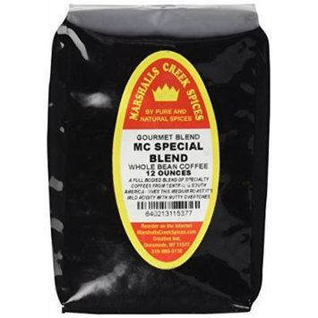Marshalls Creek Spices Gourmet MC Special Blend Whole Bean Coffee, 12 Ounce