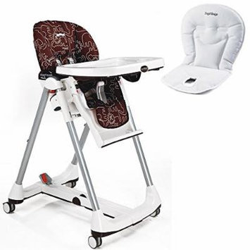 Peg-Perego Prima Pappa Diner High Chair w White Baby Cushion (Savana Cacao)