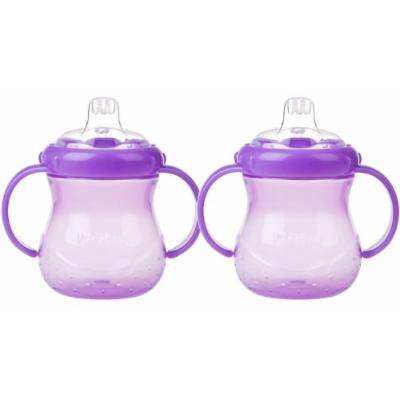 Nuby 10 oz No-Spill Cup with Soft Spout, 2 Pack - Purple