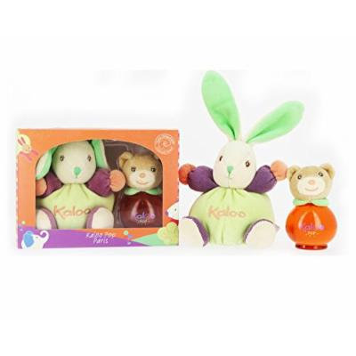 Kaloo Pop Cologne 50ml/1.7 Fl.oz Alcohol Free Scented Water Spray + Chubby Kaloo Pop Rabbit Gift Set