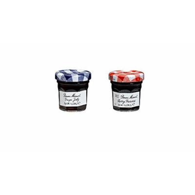 Bonne Maman Duo Mini Jars - 1 Oz X 30 Pcs (15 Cherry, 15 Grape)