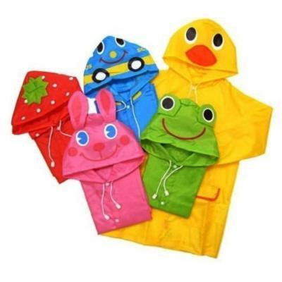 Dexiu Hot Cartoon Style Baby Toddler Hooded Raincoat Jacket (Green)