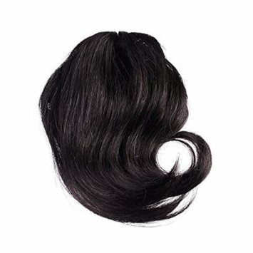 Sono 1 Count 100% Human Hair Side Swept Clip-In Bang Extensions , #1 Jet Black