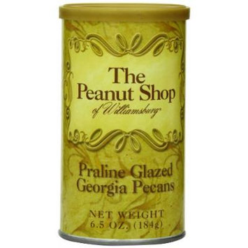 The Peanut Shop of Williamsburg Praline Glazed Pecans, 6.5-Ounce Tin