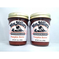 Mrs. Miller's Amish Homemade Pumpkin Butter 8 Oz. - Pack of 2 (Boxed)