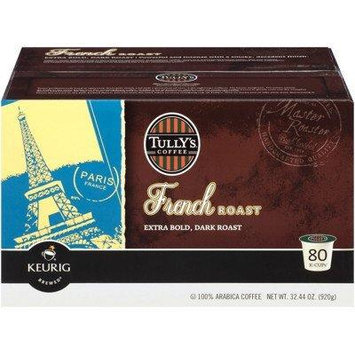 Tully's Coffee French Roast Caffeinated Coffee for Keurig Brewing Systems, 80 K-cups