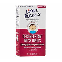 Little Remedies Noses Decongestant Nose Drops for Infants and Children, 2 Count