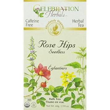 Celebration Herbals Organic Herbal Rose Hips Bulk Tea -- 2.99 oz