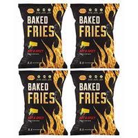 SNIKIDDY , Fries-Cheddar/Hot&Spicy 4.5 Oz Gluten Free [ 4 Pack]