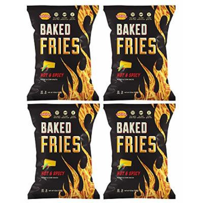 SNIKIDDY , Fries-Cheddar/Hot&Spicy 4.5 Oz Gluten Free [ 4 Pack]
