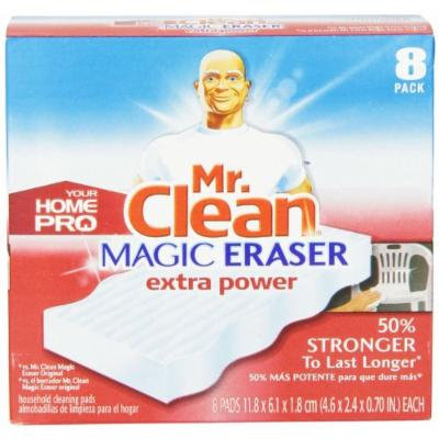 32 COUNT Mr. Clean HomePro Extra Power Magic Eraser, 4 Pack- 8 Count Box = 32 - No Risk - 100% Satisfaction Guaranteed!