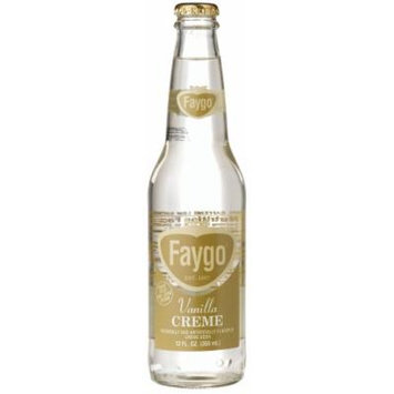 Faygo CREME SODA FROM DETROIT, 12-Ounce Longneck Glass Bottles (Pack of 12)