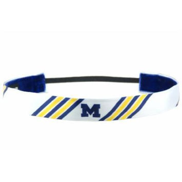 One Up Bands Women's NCAA University of Michigan Stripes One Size Fits Most