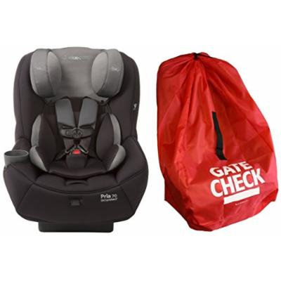 Maxi-Cosi Pria 70 Convertible Car Seat with Easy Clean Fabric and Gate Check Bag, Total Black