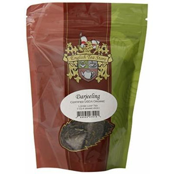 English Tea Store Loose Leaf, Organic Darjeeling Tea Pouches, 4 Ounce