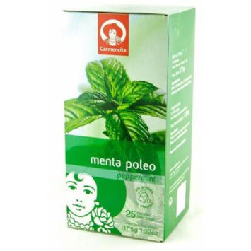 Carmencita Peppermint Tea / Te de Menta Poleo 25 Envelopes 1.32oz 12 Pack
