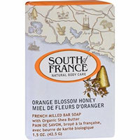 South of France Bar Soap - Orange Blossom Honey - Travel - 1.5 oz - Case of 12 - Gluten Free - Yeast Free -
