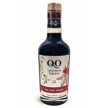 QO Gourmet Balsamic Vinegar , High Density HOT CHILI (Mild) Infused , 250ml/8.45 fl.oz. , All Natural , Product of Modena