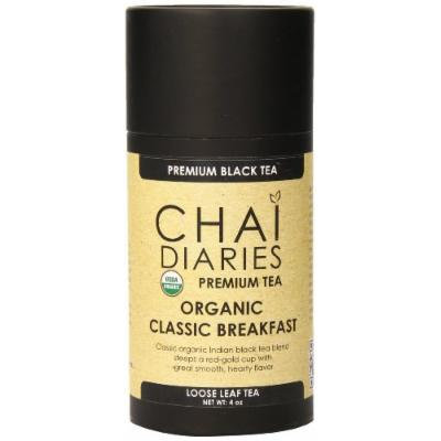 Chai Diaries Organic Classic Breakfast Black Tea, 4 Ounce