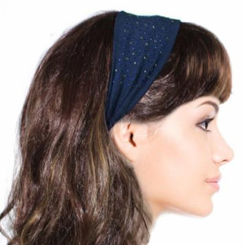 Simple Sparkling Rhinestone Stretch Headband - Navy Blue (1 Pc)