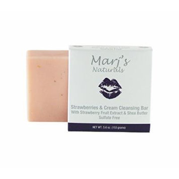Marj's Naturals Cleansing Bar, Strawberries and Cream