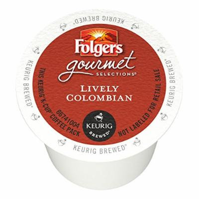 Folgers Gourmet Selections Single Serve Coffee - Lively Colombian - 80 K-Cups (Single Serve Portion Packs designed for use with Keurig Brewers)