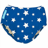 Charlie Banana Best Extraordinary Reusable Training Pants (Small, White Stars on Blue)