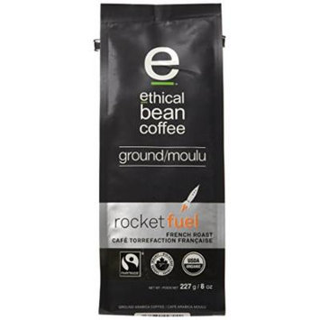 Ethical Bean Coffee Rocket Fuel, French Roast, Ground, 8-Ounce Bag