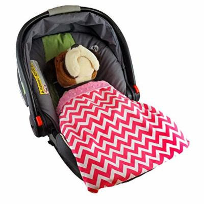 Car Seat Blankie Zig Zag (Pink) - - Universal Blanket for Car Seats, Beautiful Patterns, Handmade in USA.