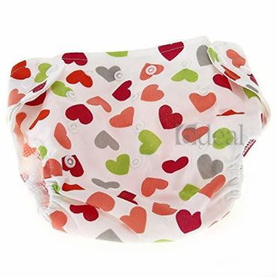 Baby Infant Diaper Nappy Cover Cat Hearts Pattern Leakproof