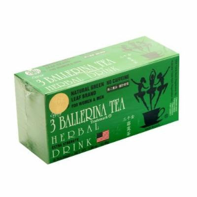 Three (3) Ballerina Tea, Dieter's Drink 18 Tea Bags, 1 Pack