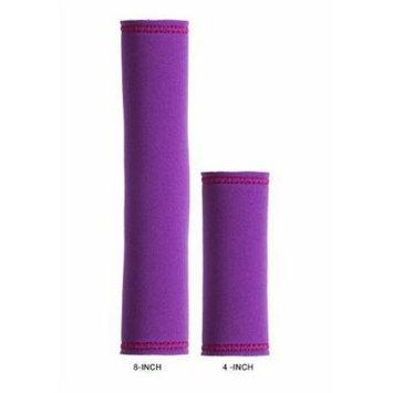 Hair Glove Neoprene Purple w/Fuchisa Stitching Pony Tail Holder (8 Inch)