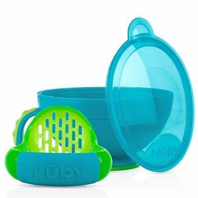 Nuby Garden Fresh Steam N' Mash Baby Food Prep Bowl and Food Masher Blue/Green