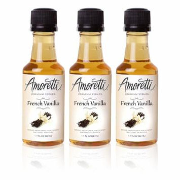 Amoretti Premium French Vanilla Syrups 50ml 3 Pack